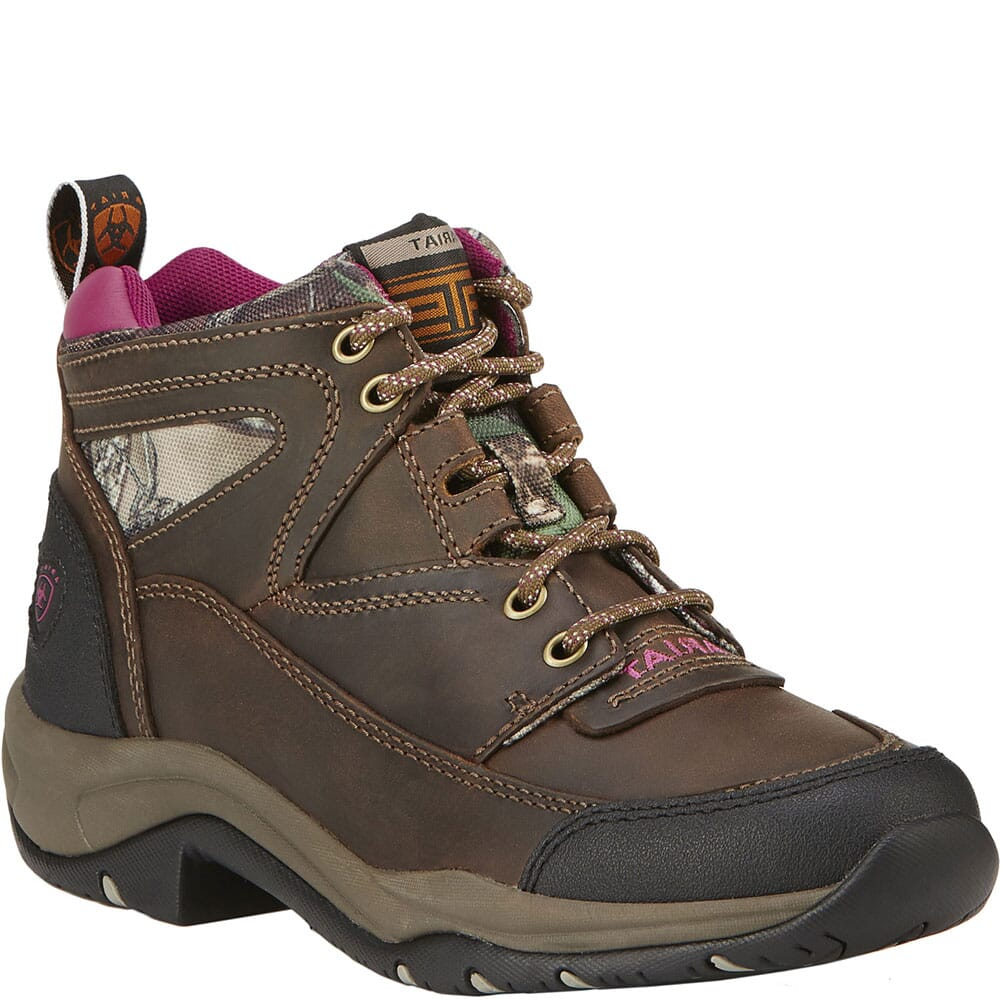 Image for Ariat Women's Terrain Hiking Boots - Distressed Brown/Camo from bootbay