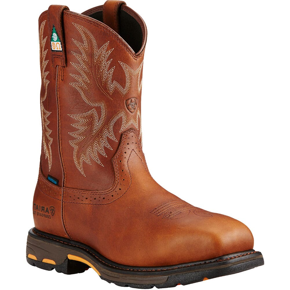 Image for Ariat Men's Workhog H2O CSA Safety Boots - Dark Copper from bootbay