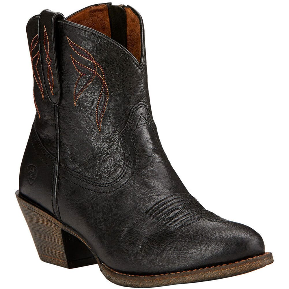 Image for Ariat Women's Darlin Western Boots - Old Black from elliottsboots