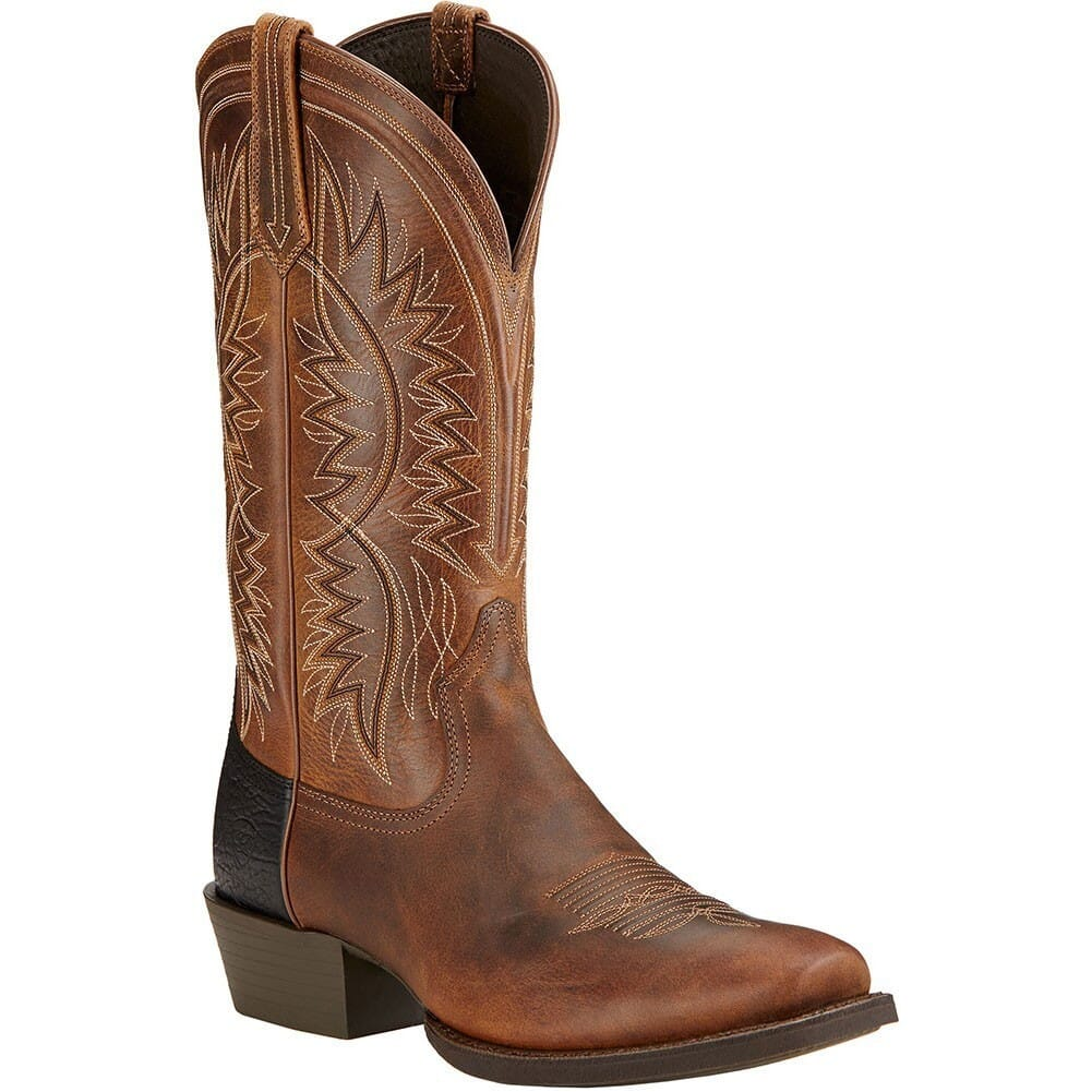 Image for Ariat Men's Troubadour Western Boots - Powder Brown from bootbay