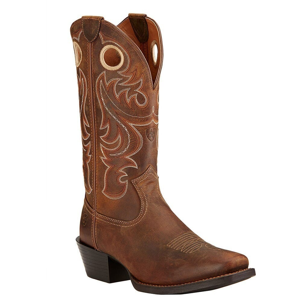 Image for Ariat Men's Sport SQ Toe Western Boots - Powder Brown from bootbay