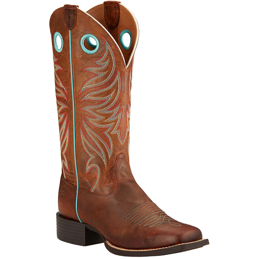 Image for Ariat Women's Round Up Ryder Western Boots - Brown from elliottsboots