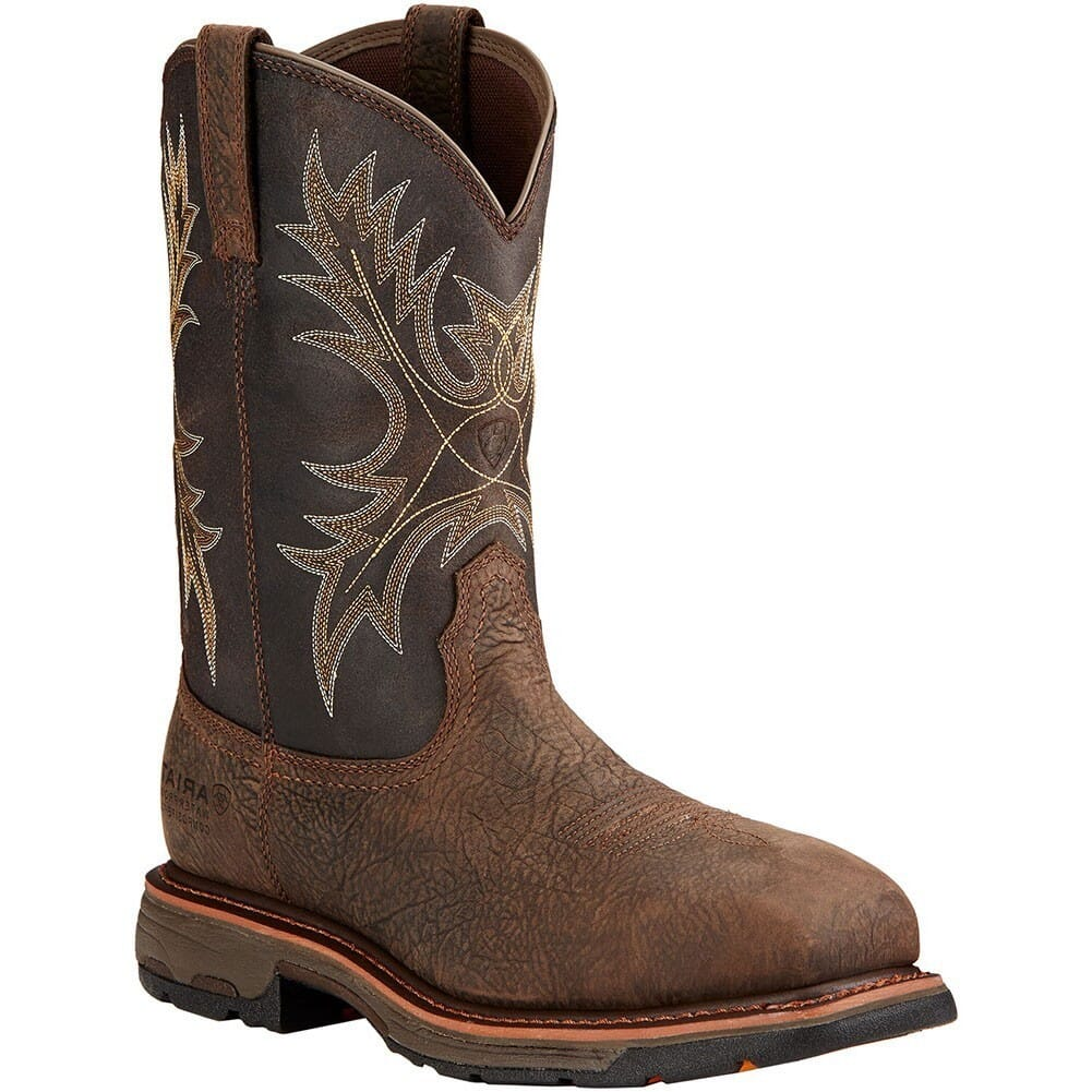 Image for Ariat Men's Workhog EH WP Safety Boots - Brown from bootbay