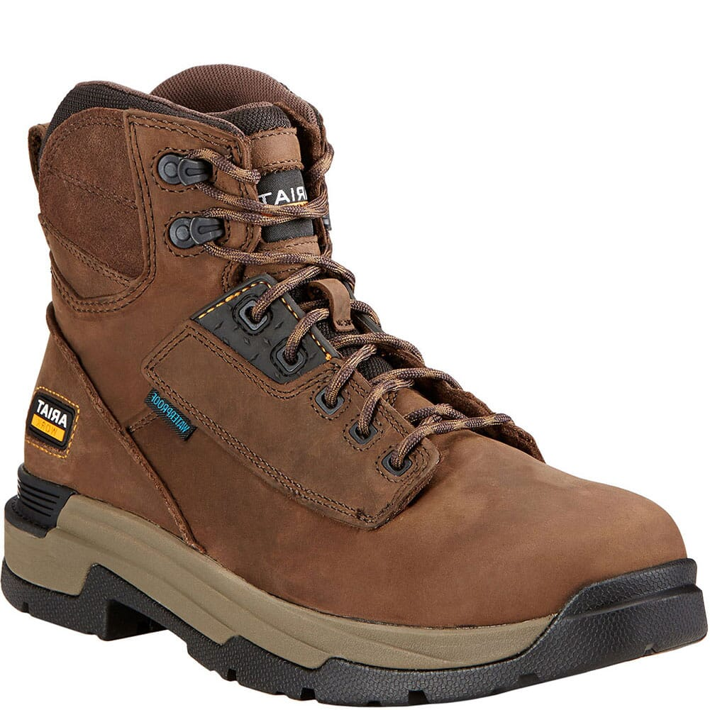 Image for Ariat Men's Mastergrip WP Work Boots - Oily Distressed Brown from bootbay