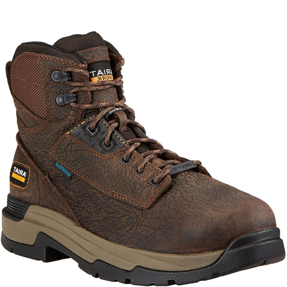 Image for Ariat Men's Mastergrip WP Met Safety Boots - Bruin Brown from bootbay