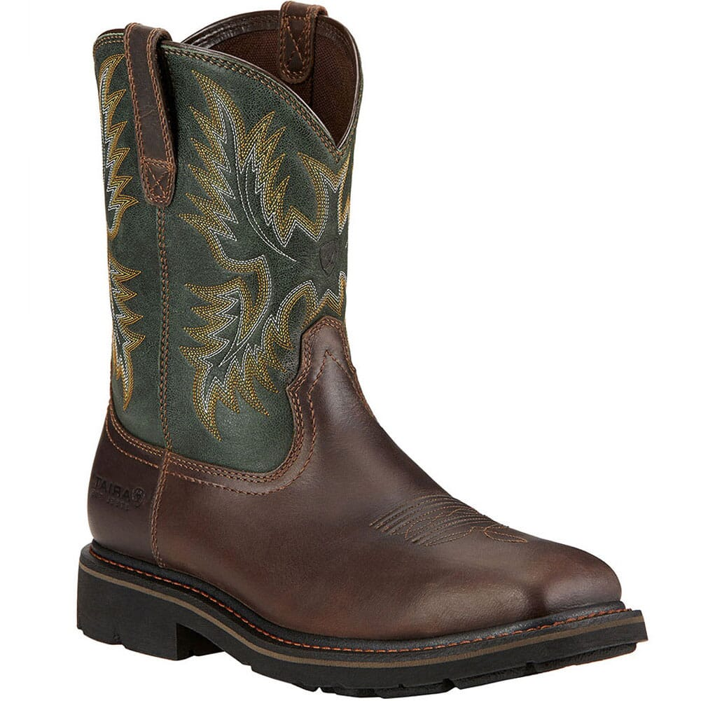 Image for Ariat Men's Sierra Safety Boots - Brown/Green from bootbay