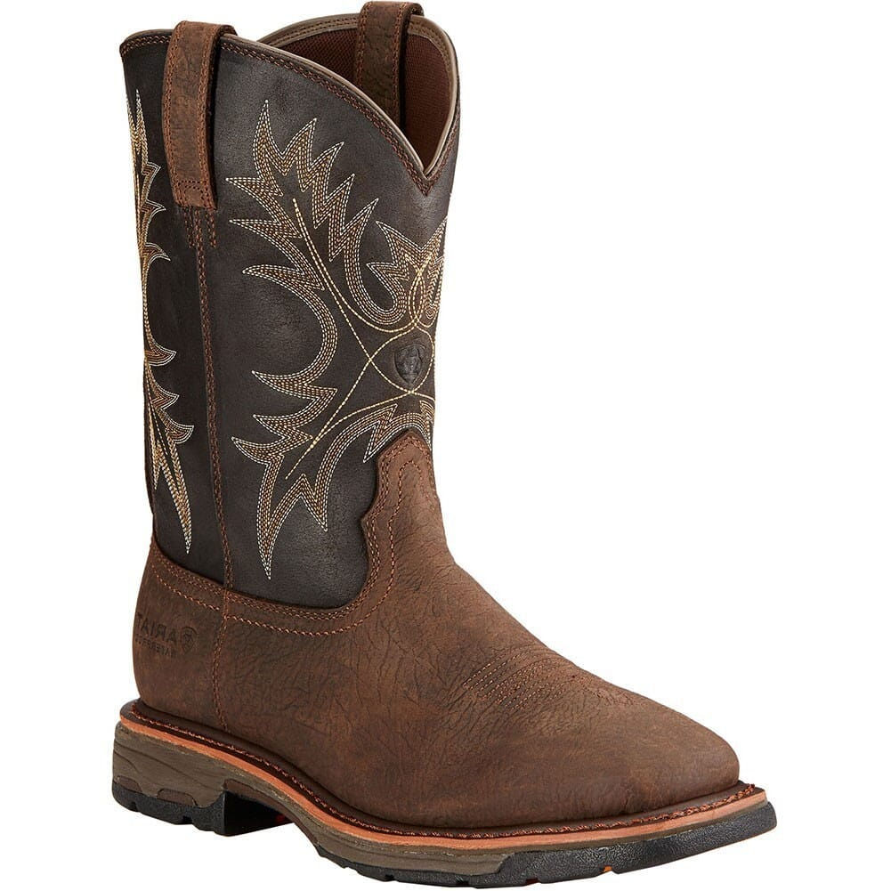 Image for Ariat Men's Workhog WP EH Work Boots - Bruin Brown/Coffee from bootbay
