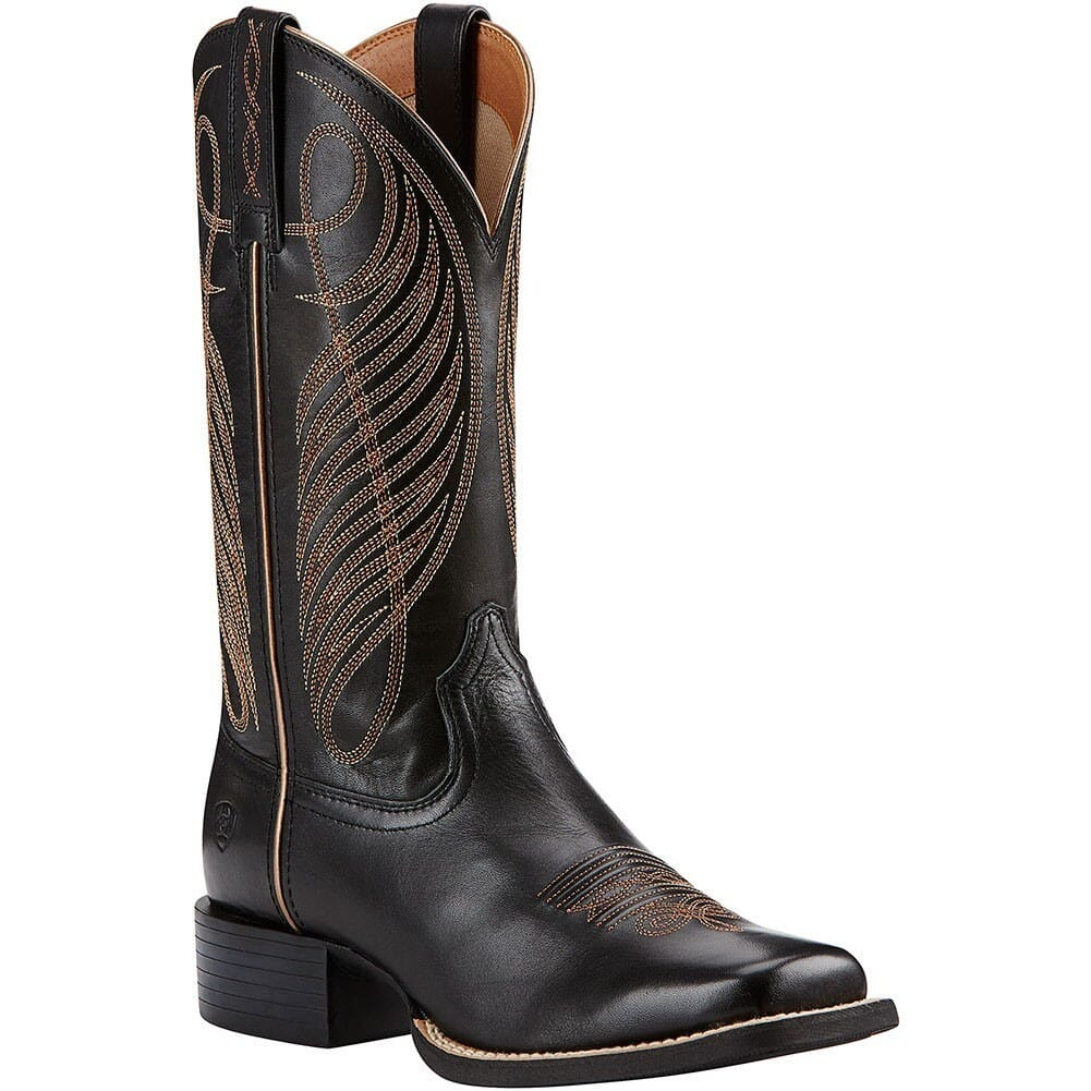 Image for Ariat Women's Round Up Western Boots - Limousin Black from elliottsboots