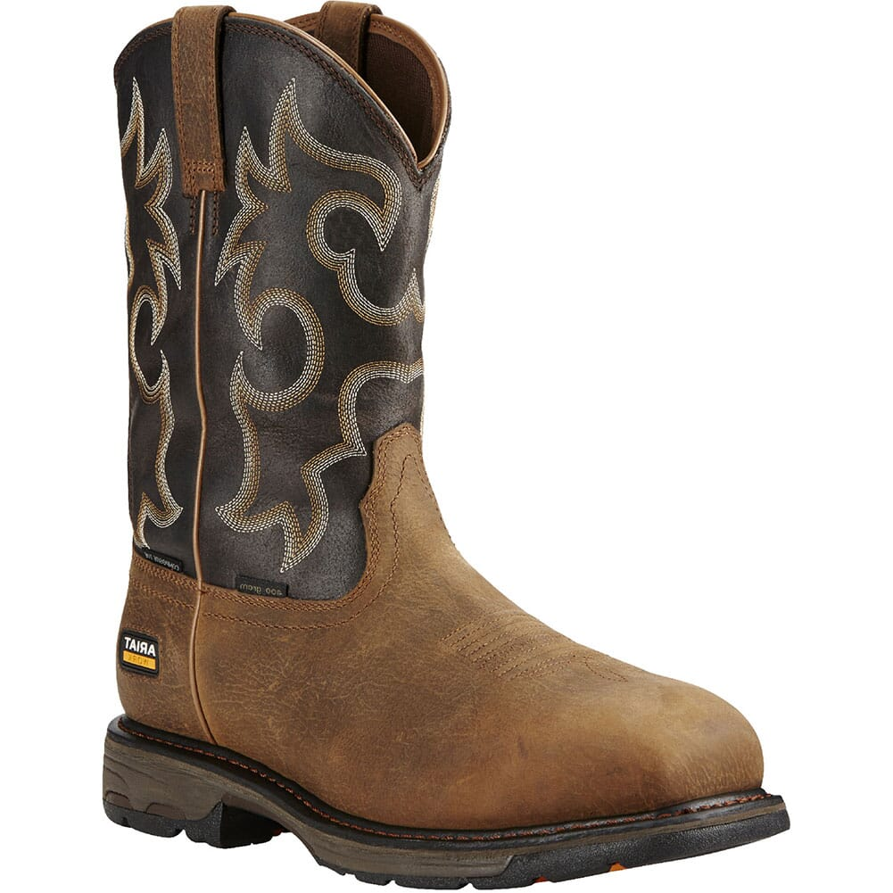 Image for Ariat Men's WorkHog WP Safety Boots - Rye Brown from bootbay