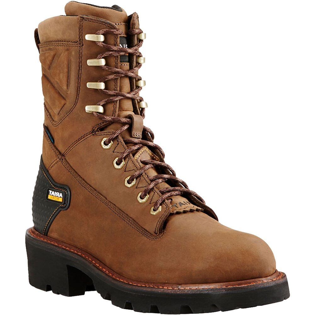 Image for Ariat Men's Powerline Waterproof Work Boots - Distressed Brown from bootbay