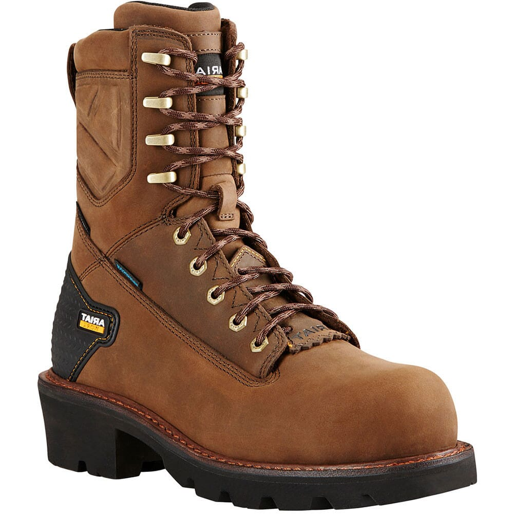 Image for Ariat Men's Powerline Safety Boots - Distressed Brown from bootbay