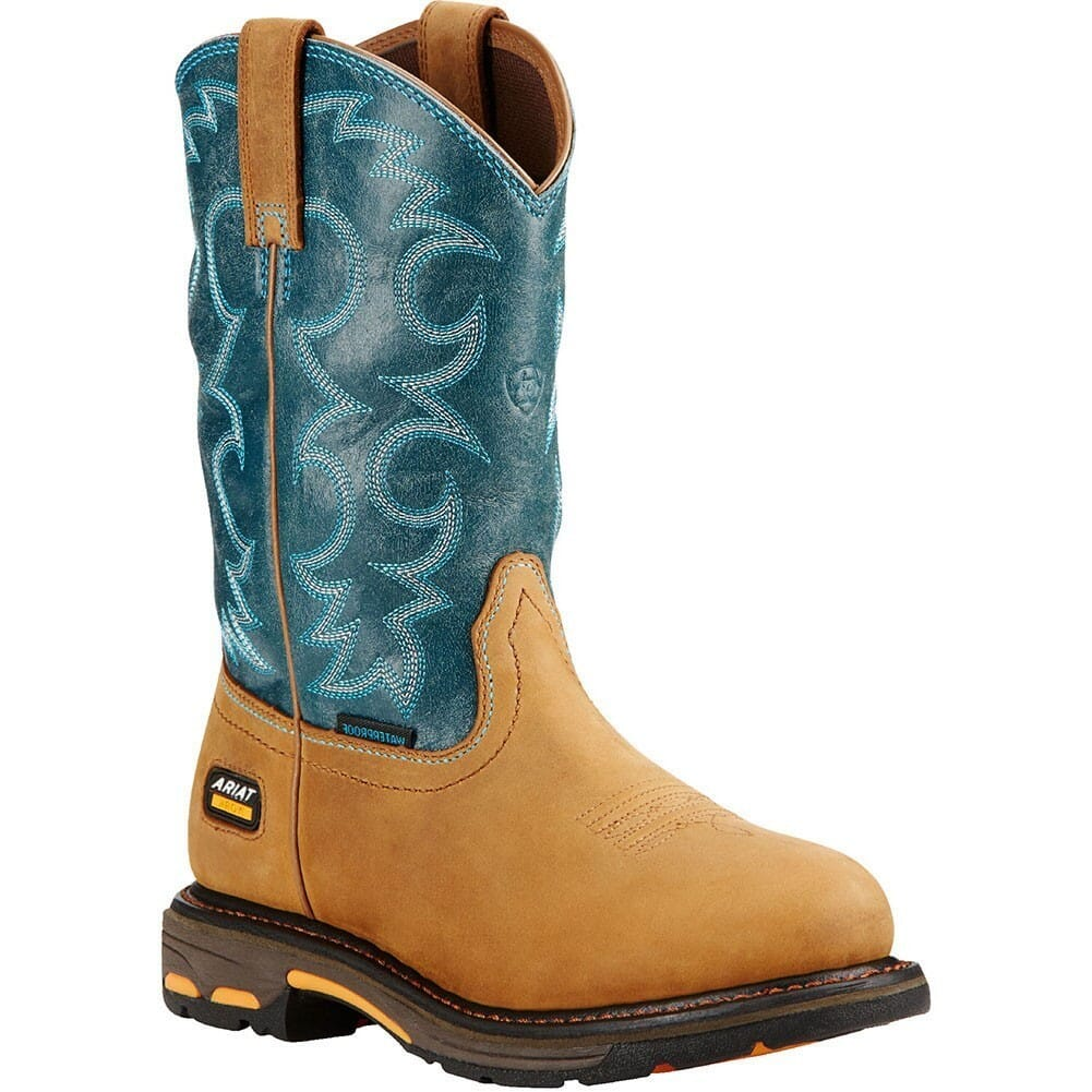 Image for Ariat Women's Workhog WP Work Boots - Aged Bark/Tobaz from elliottsboots