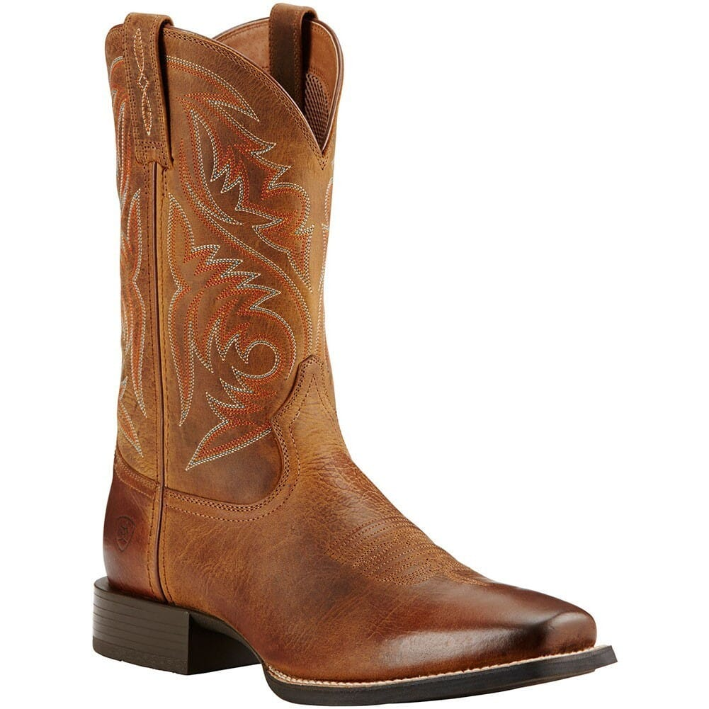 Image for Ariat Men's Sport Herdsman Western Boots - Powder Brown from bootbay