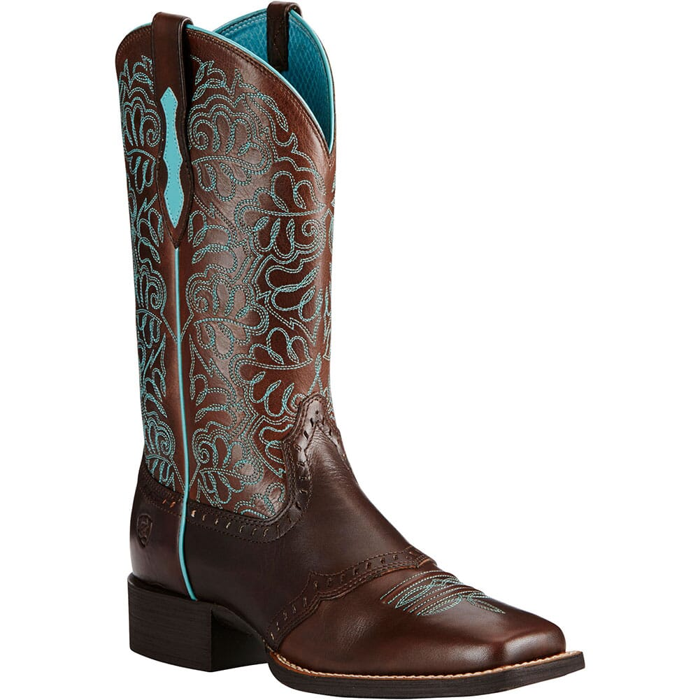 Image for Ariat Women's Round Up Remuda Western Boots - Naturally Dark Brown from bootbay