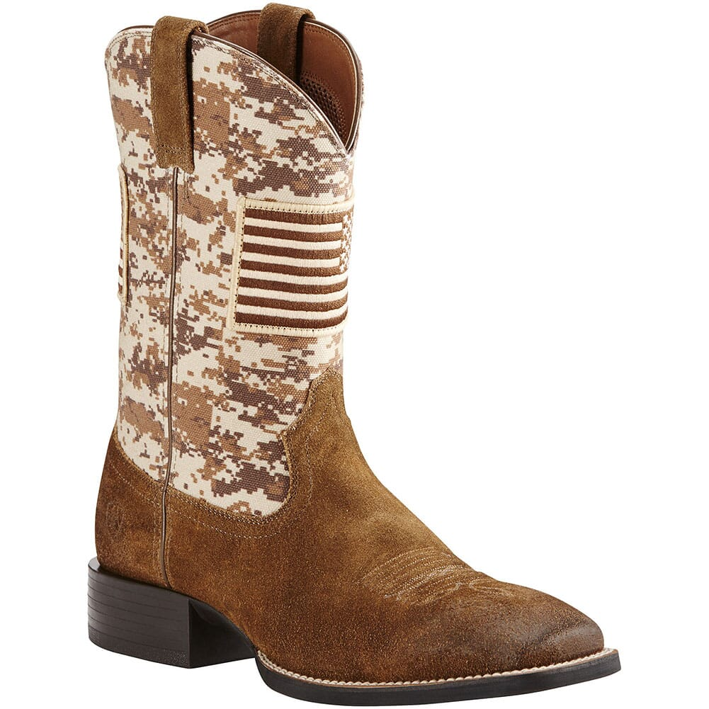 Image for Ariat Men's Sport Patriot Western Boots - Antique Mocha/Sand Camo from bootbay