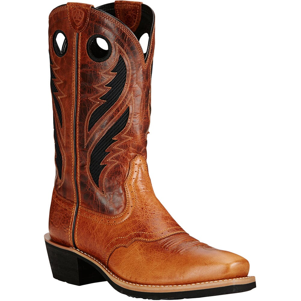 Image for Ariat Men's Heritage Roughstock VentTEK Western Boots - Gingersnap/Tan from bootbay