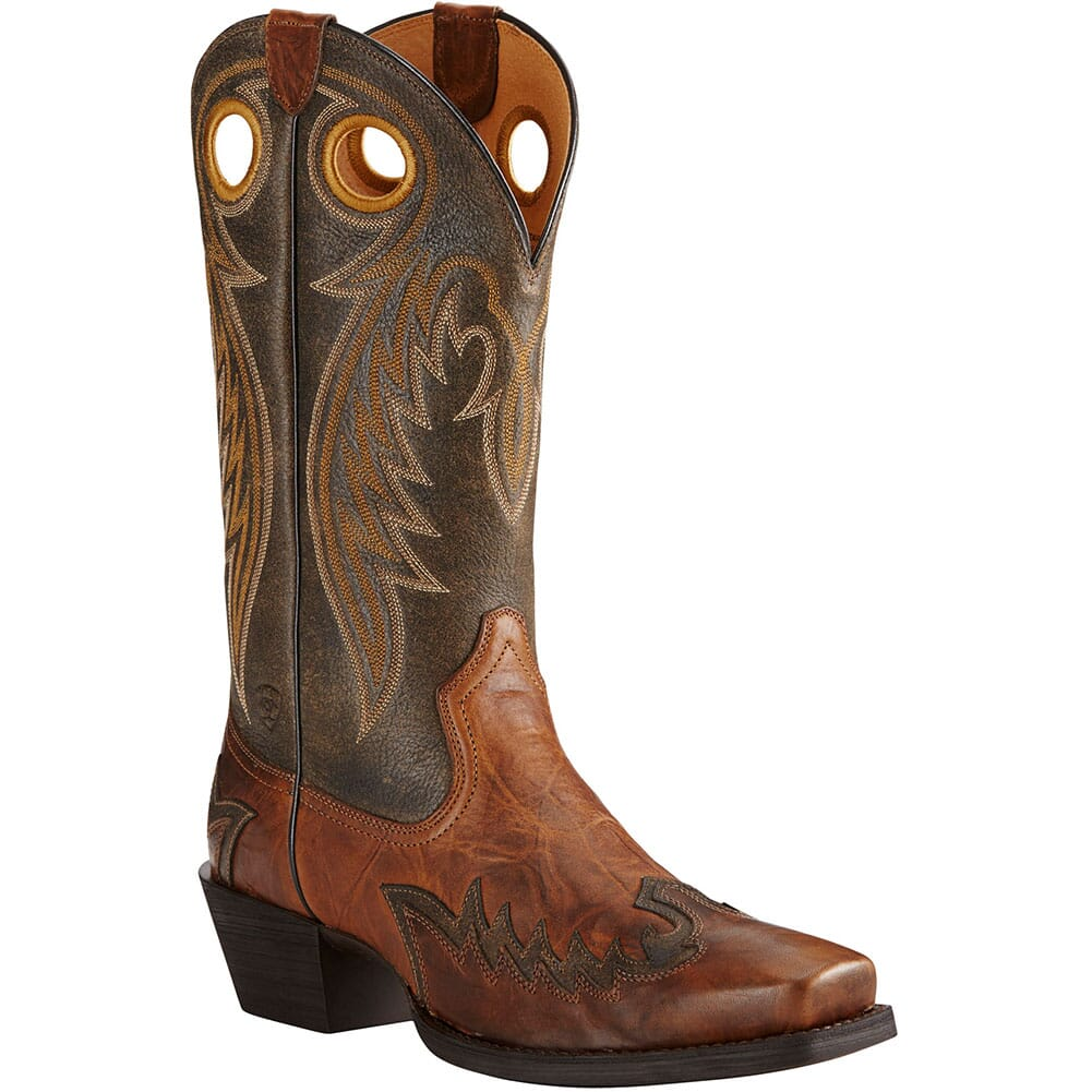 Image for Ariat Men's Rival Barn Western Boots - Brown/Brooklyn Brown from bootbay