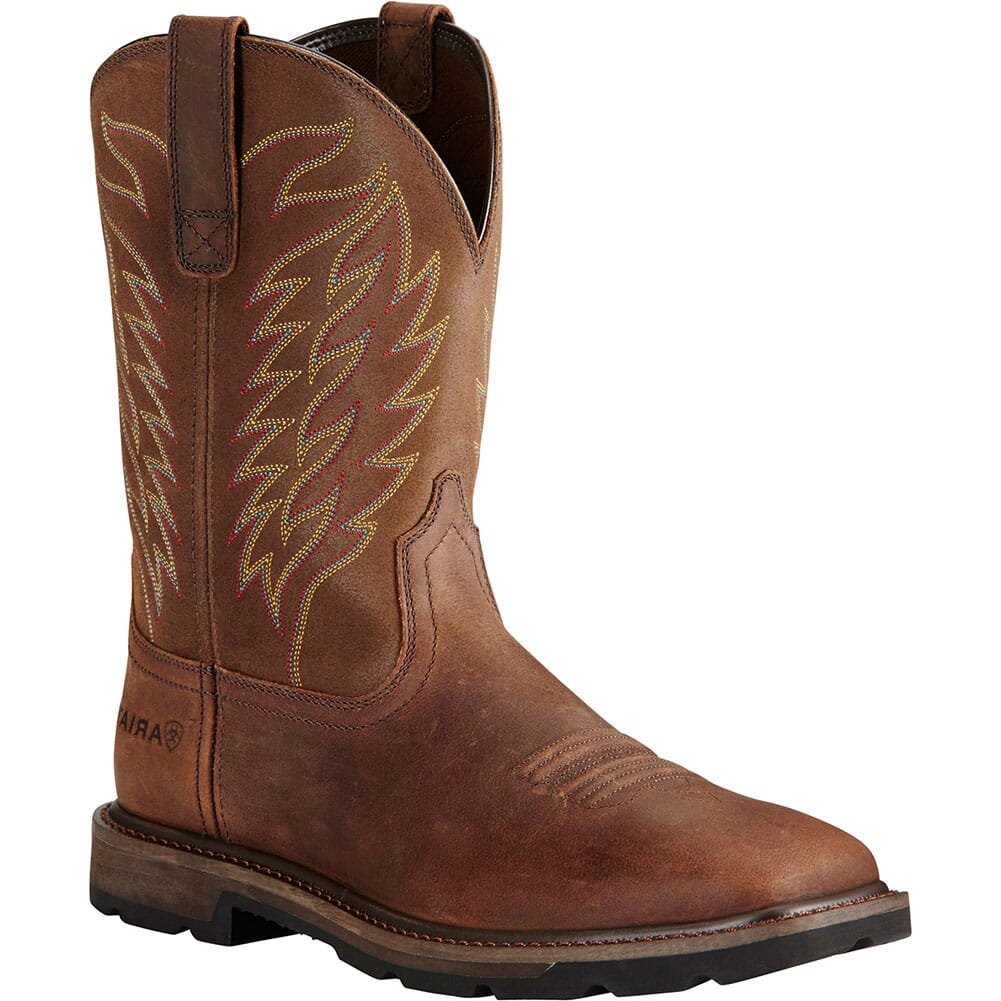 Image for Ariat Men's Groundbreaker Work Boots - Brown from bootbay