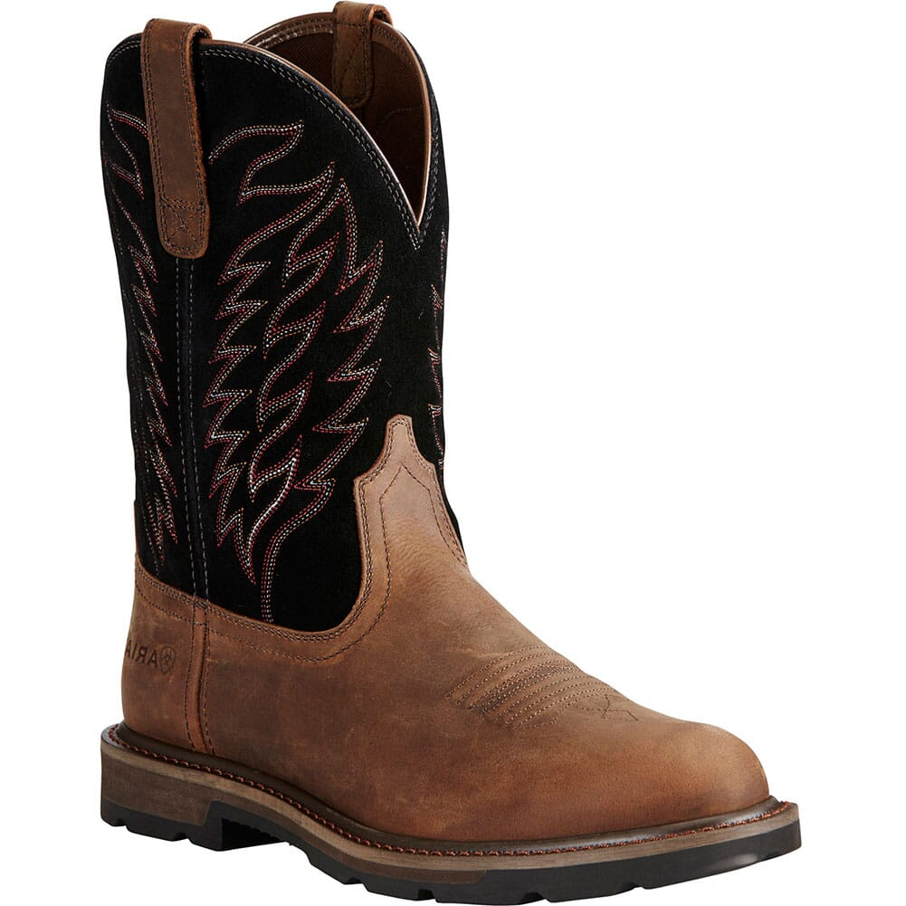 Image for Ariat Men's Groundbreaker Work Boots - Brown/Black from bootbay