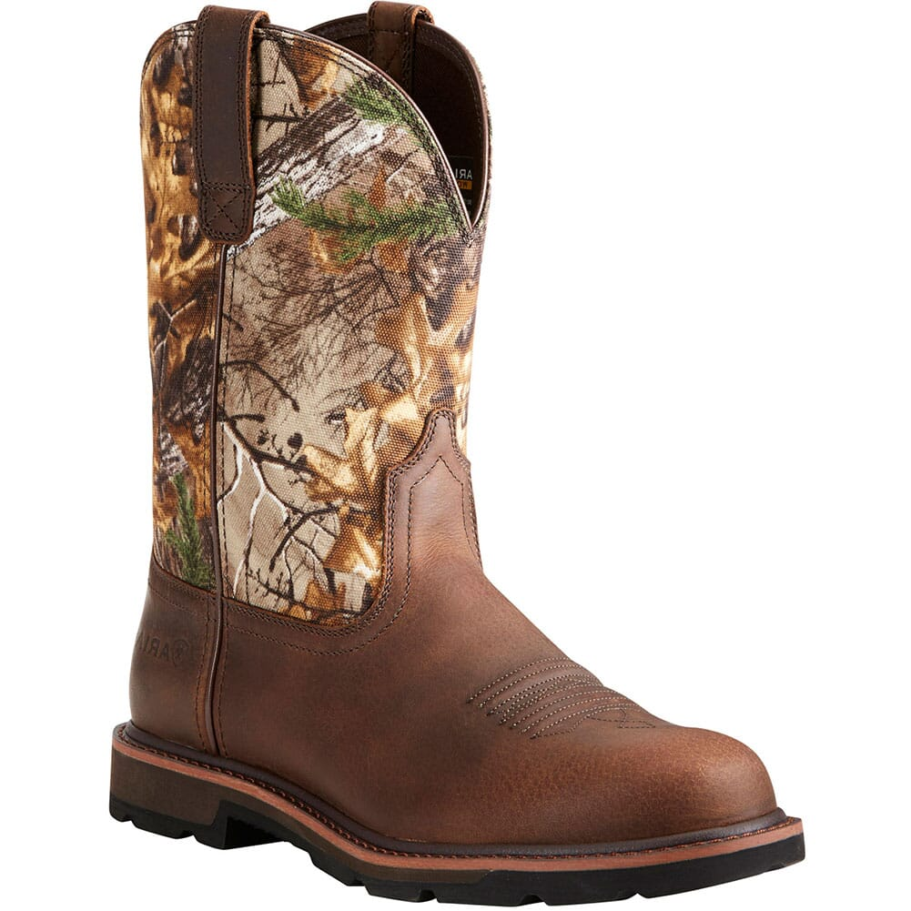 Image for Ariat Men's Groundbreaker Work Boots - Brown/Real Tree Xtra from bootbay