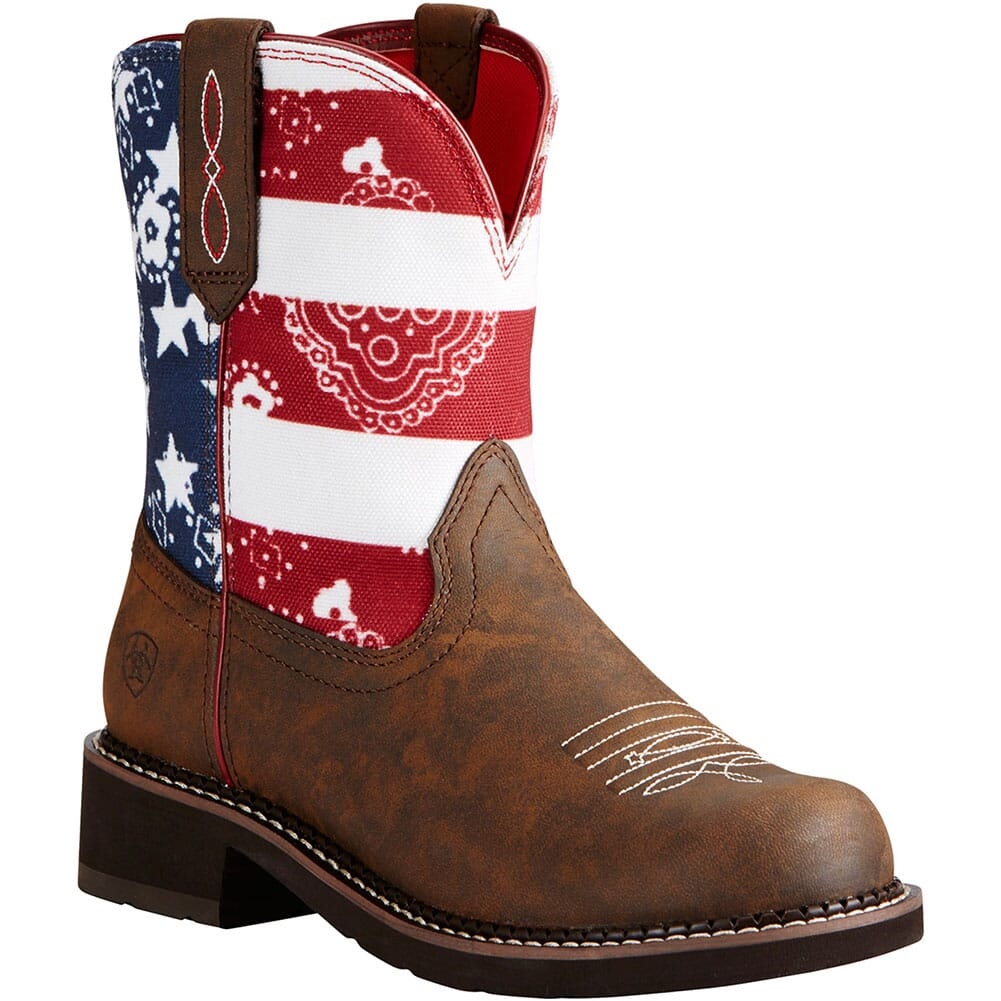 Image for Ariat Women's Fatbaby Heritage Western Boots - Toasted Brown/Glory from elliottsboots