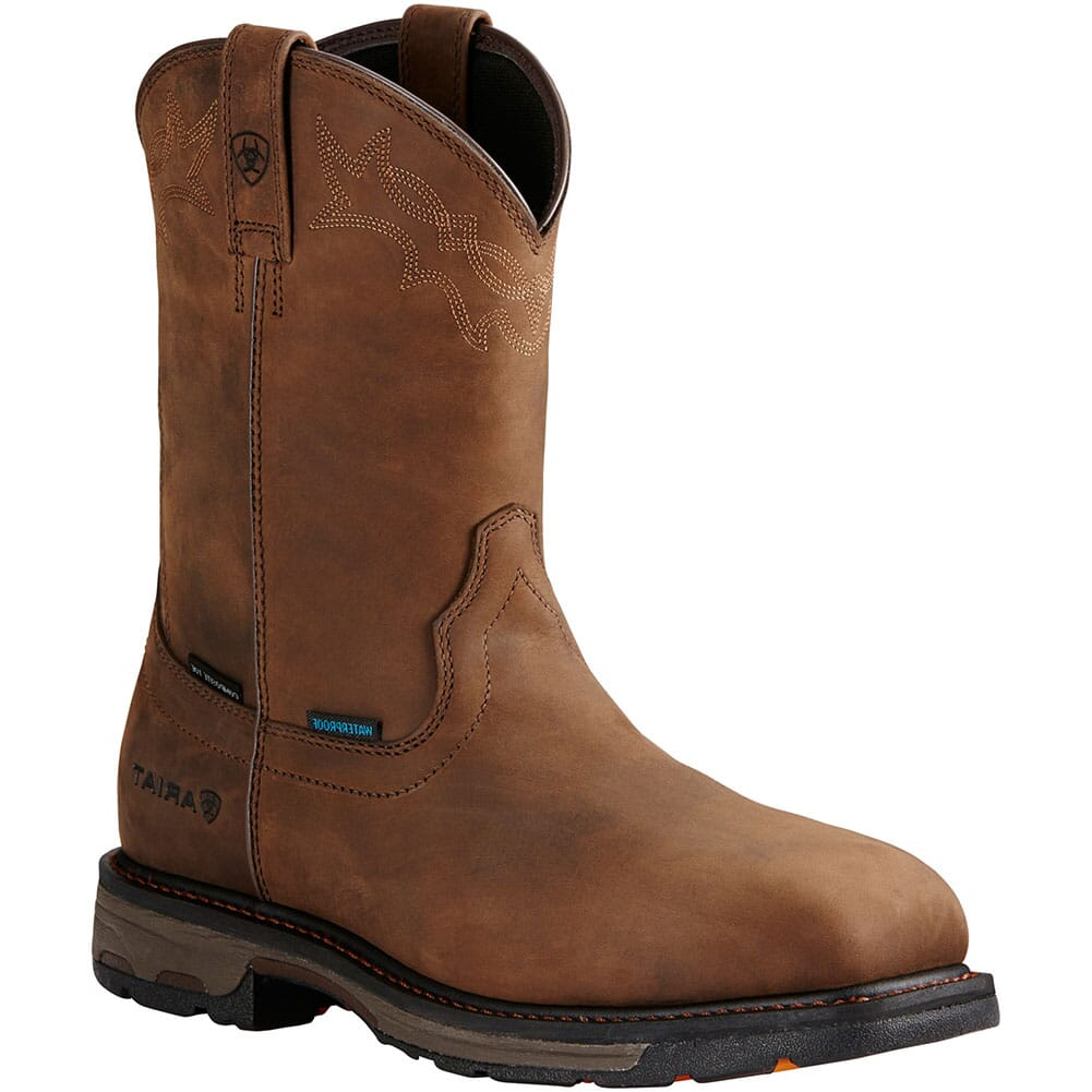 Image for Ariat Men's Workhog H2O Safety Boots - Distressed Brown from bootbay
