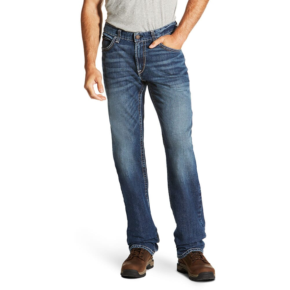 Image for Ariat Men's FR M4 Low Rise Basic Boot Cut Jeans - Alloy from bootbay
