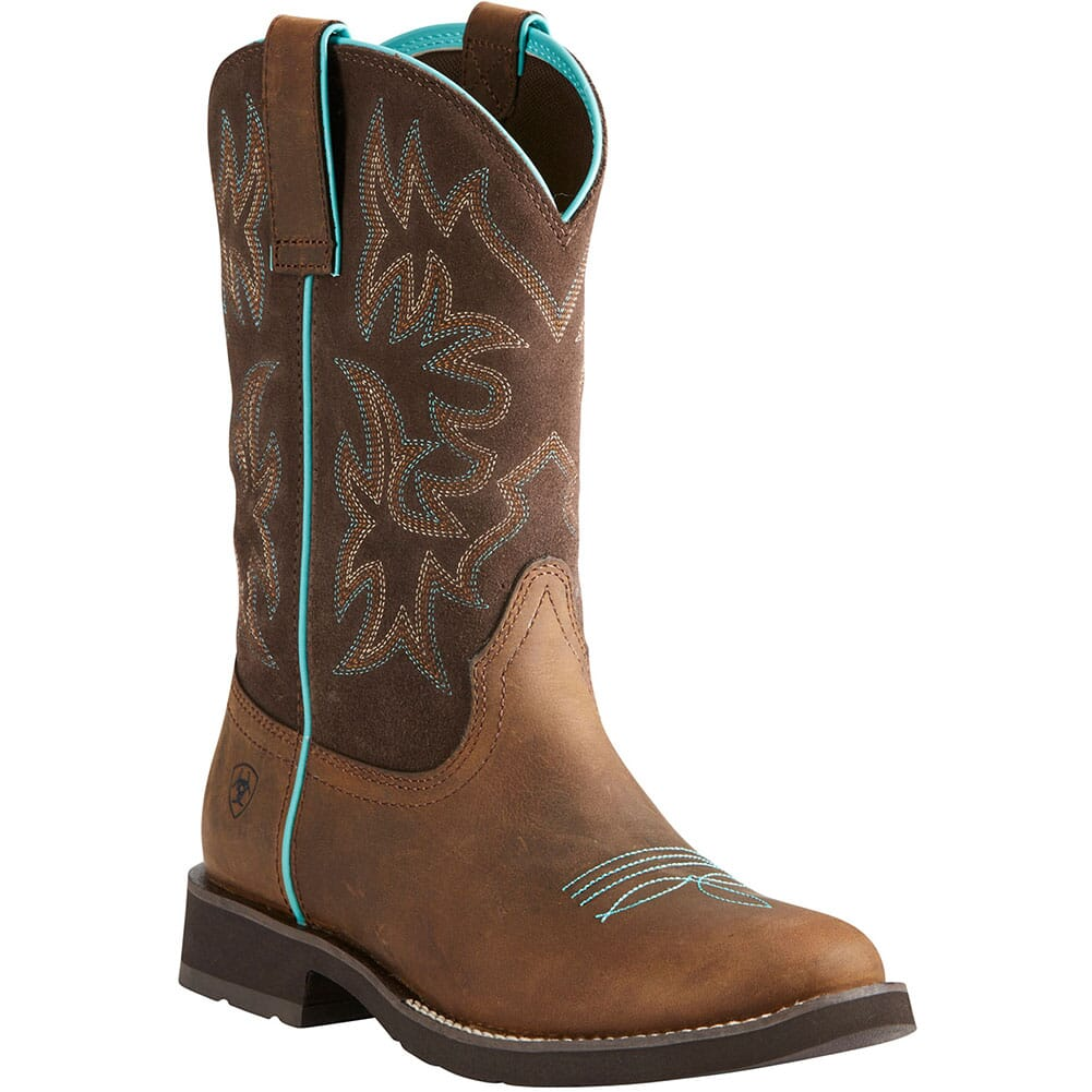 Image for Ariat Women's Delilah Western Boots - Distressed Brown from elliottsboots