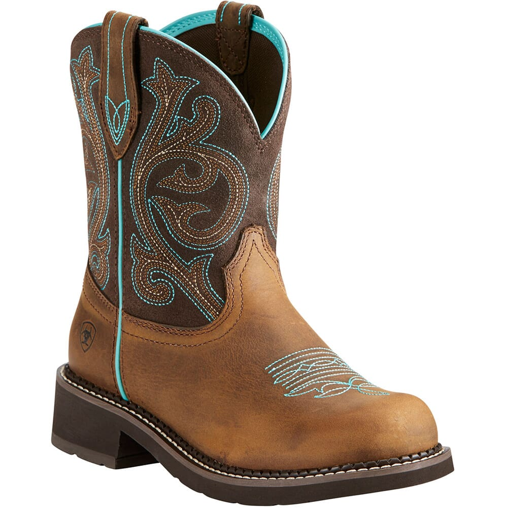 Image for Ariat Women's Fatbaby Heritage Western Boots - Distressed Brown/Fudge from elliottsboots