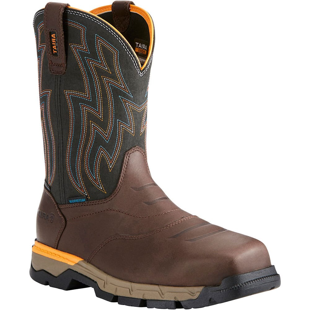 Image for Ariat Men's Rebar Flex WP Safety Boots - Brown from bootbay