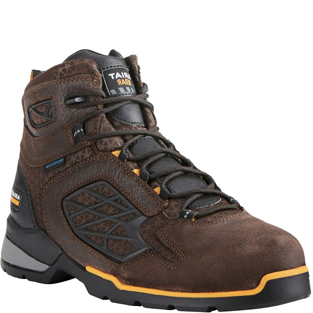 Image for Ariat Men's Rebar Flex Waterproof Safety Boots - Brown from bootbay