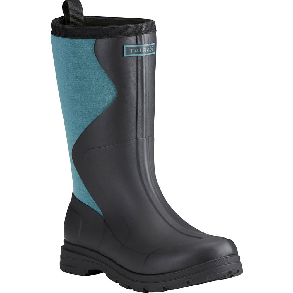 Image for Ariat Women's Springfield Rubber Boots - Black/Dusty Teal from elliottsboots