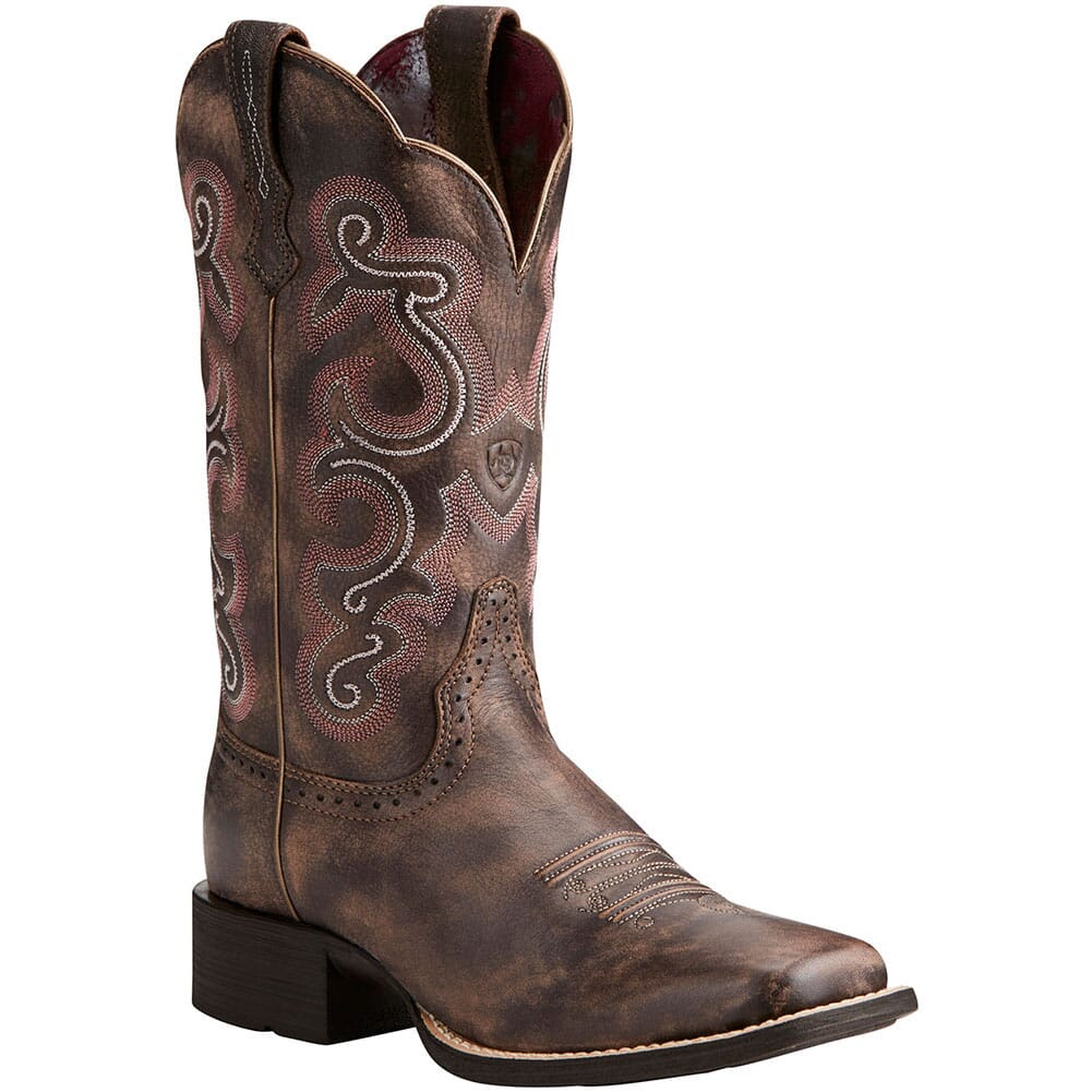 Image for Ariat Women's Quickdraw Western Boots - Tack Room Chocolate from elliottsboots