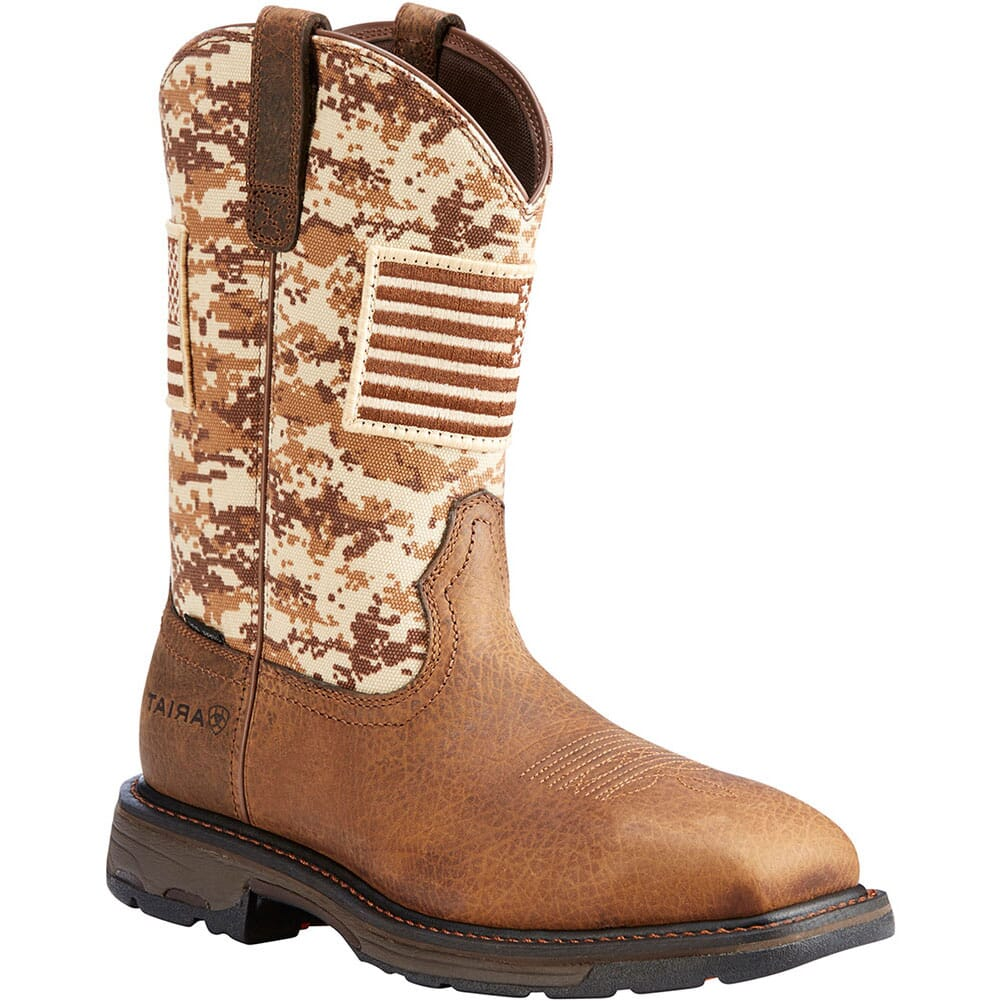 Image for Ariat Men's Workhog Patriot Safety Boots - Earth/Sand Camo from bootbay