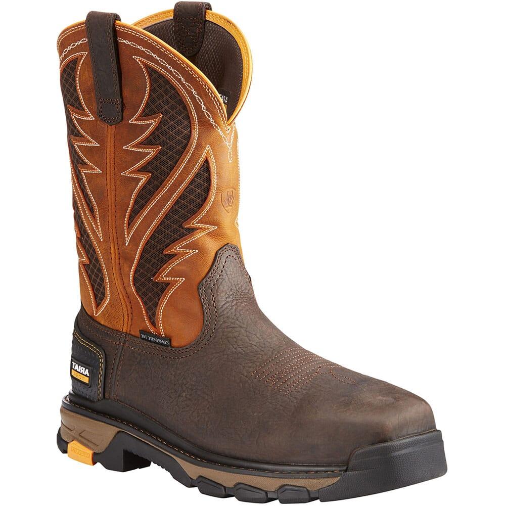 Image for Ariat Men's Intrepid VentTek Safety Boots - Bruin Brown/Orange from bootbay