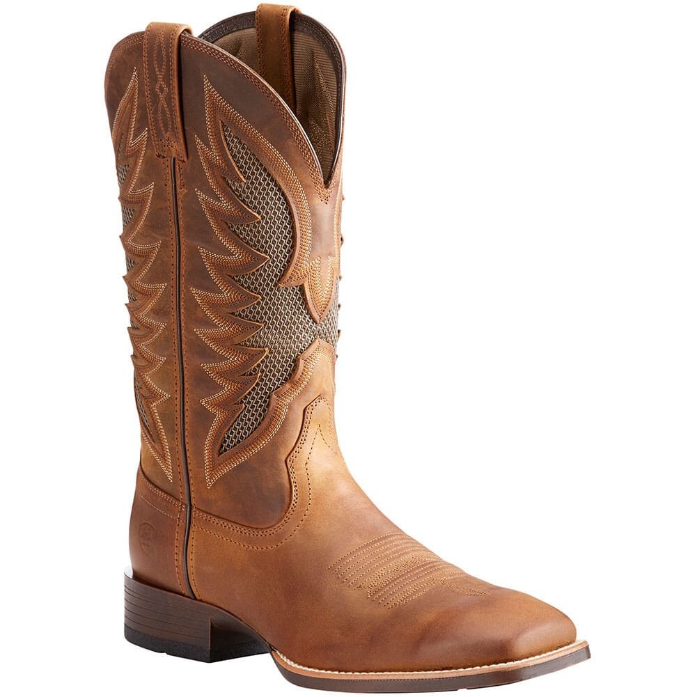Image for Ariat Men's VentTek Ultra Western Boots - Distressed Brown from bootbay