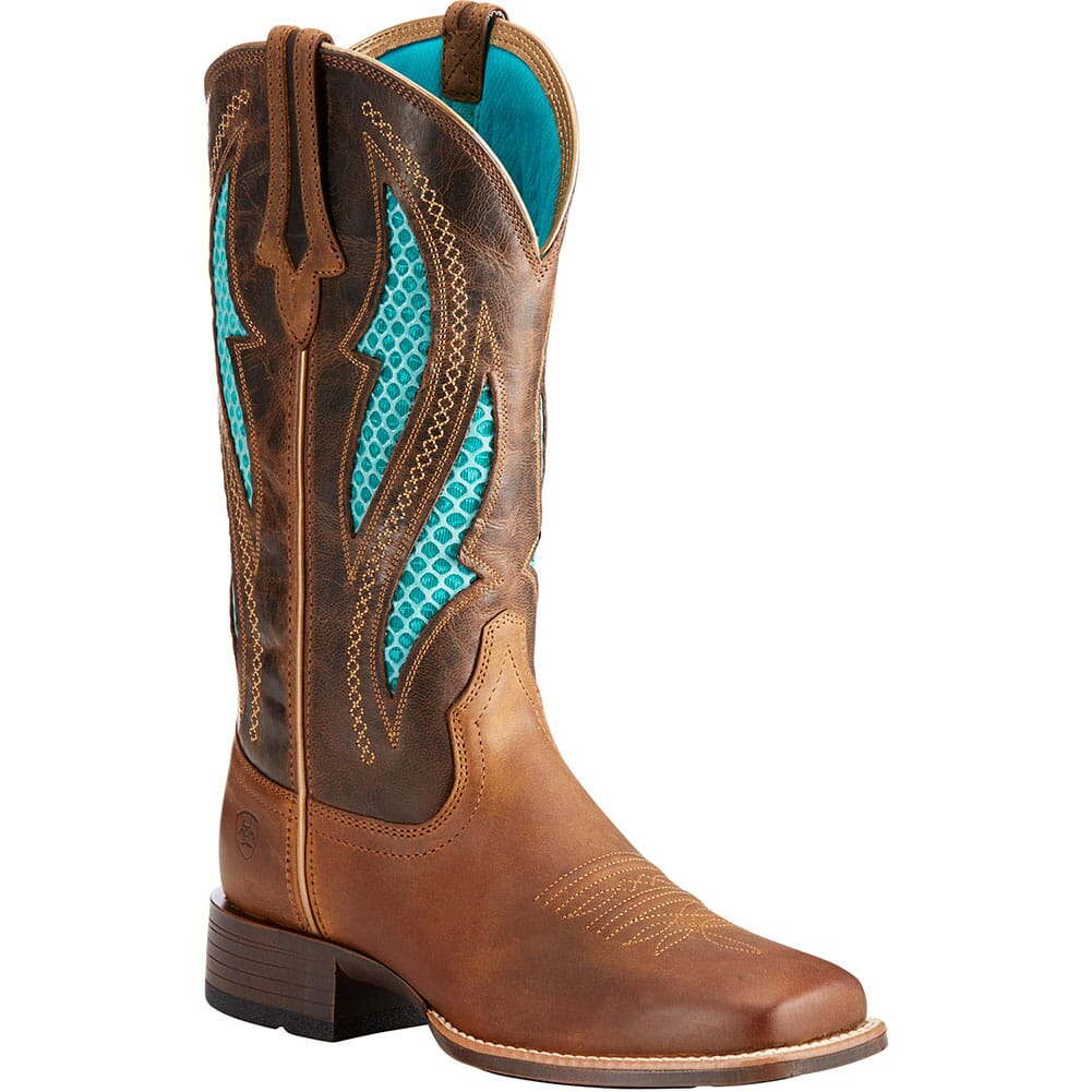 Image for Ariat Women's VentTek Ultra Western Boots - Barley Brown from elliottsboots
