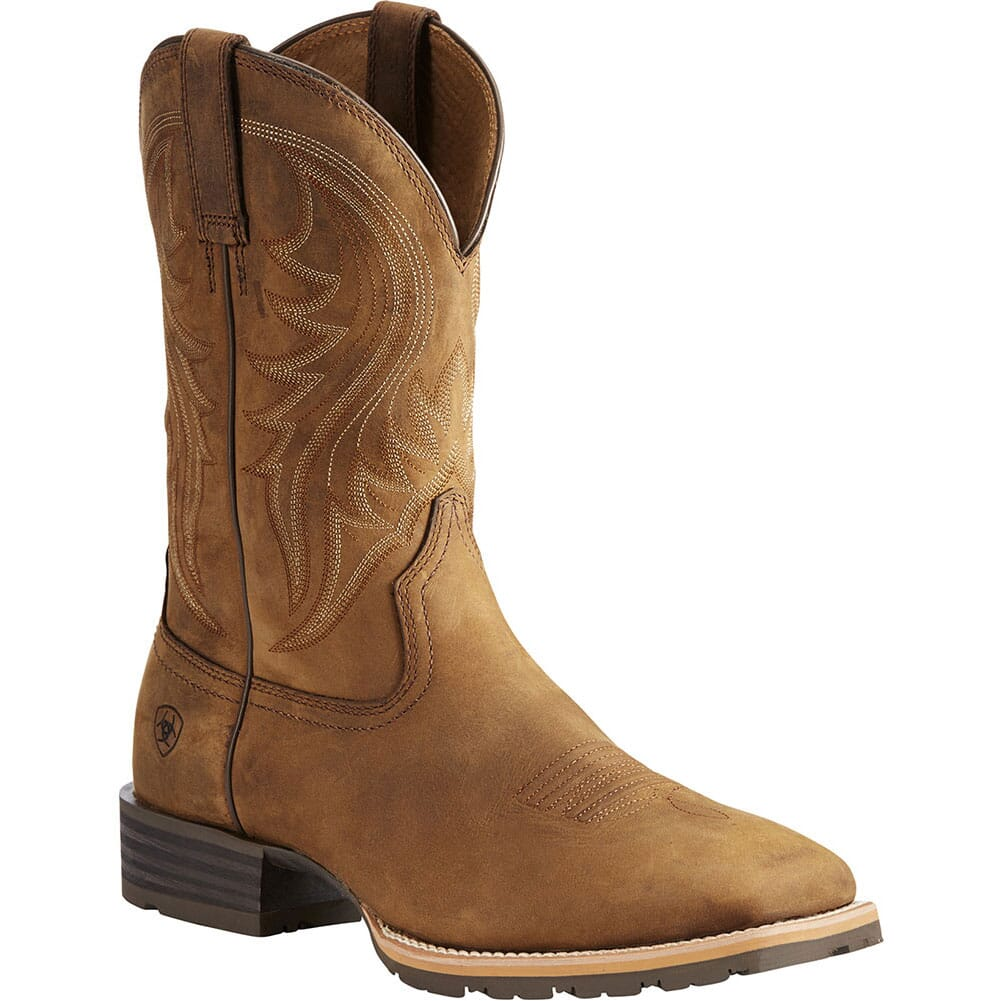 Image for Ariat Men's Hybrid Rancher Western Boots - Distressed Brown from bootbay