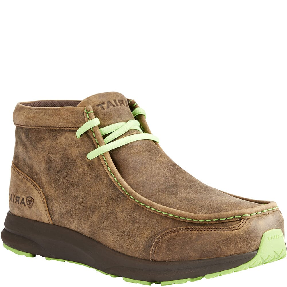 Image for Ariat Men's Spitfire Casual Boots - Brown Bomber/Lime from bootbay