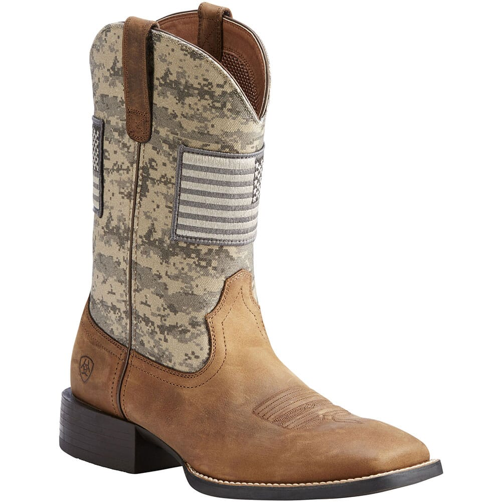 Image for Ariat Men's Sport Patriot Western Boots - Brown/Sage from bootbay