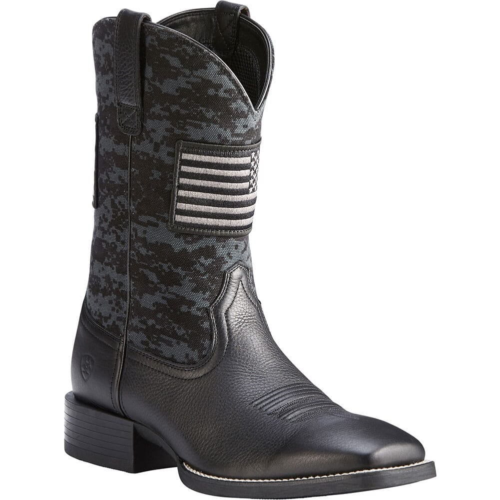 Image for Ariat Men's Sport Patriot Western Boots - Black from bootbay