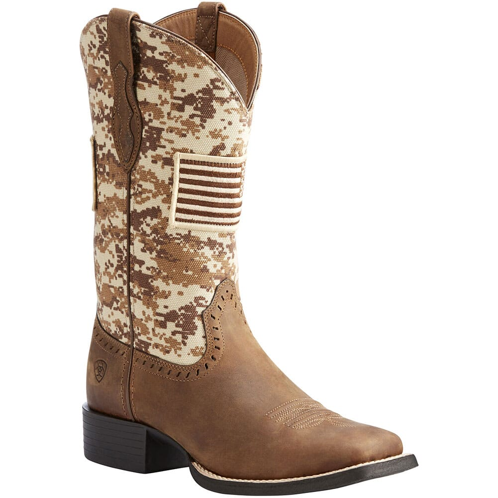Image for Ariat Women's Round Up Patriot Western Boots - Distressed Brown from bootbay