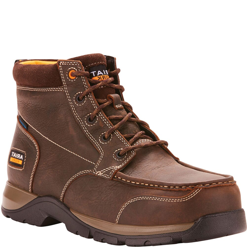 Image for Ariat Men's Edge LTE WP Safety Chukka - Dark Brown from bootbay