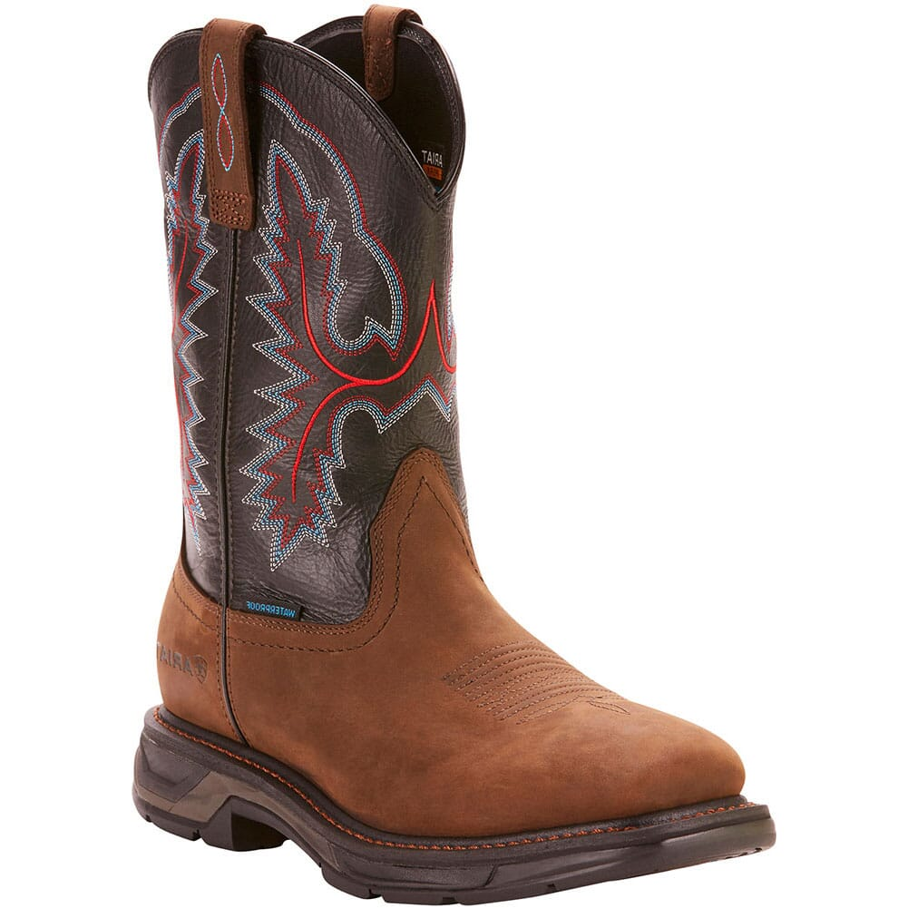 Image for Ariat Men's WorkHog XT WP Work Boots - Oily Distressed Brown from bootbay