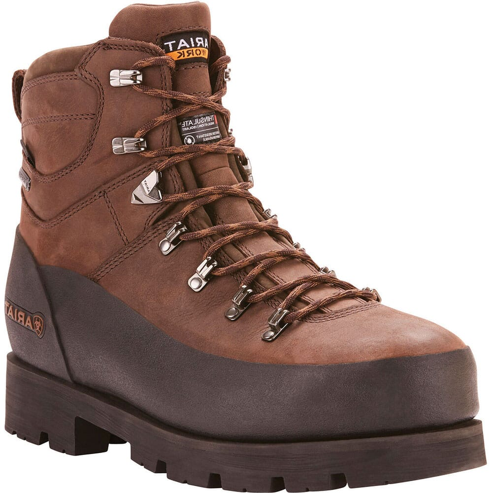 Image for Ariat Men's Linesman Ridge Insulated Safety Boots - Bitter Brown from bootbay