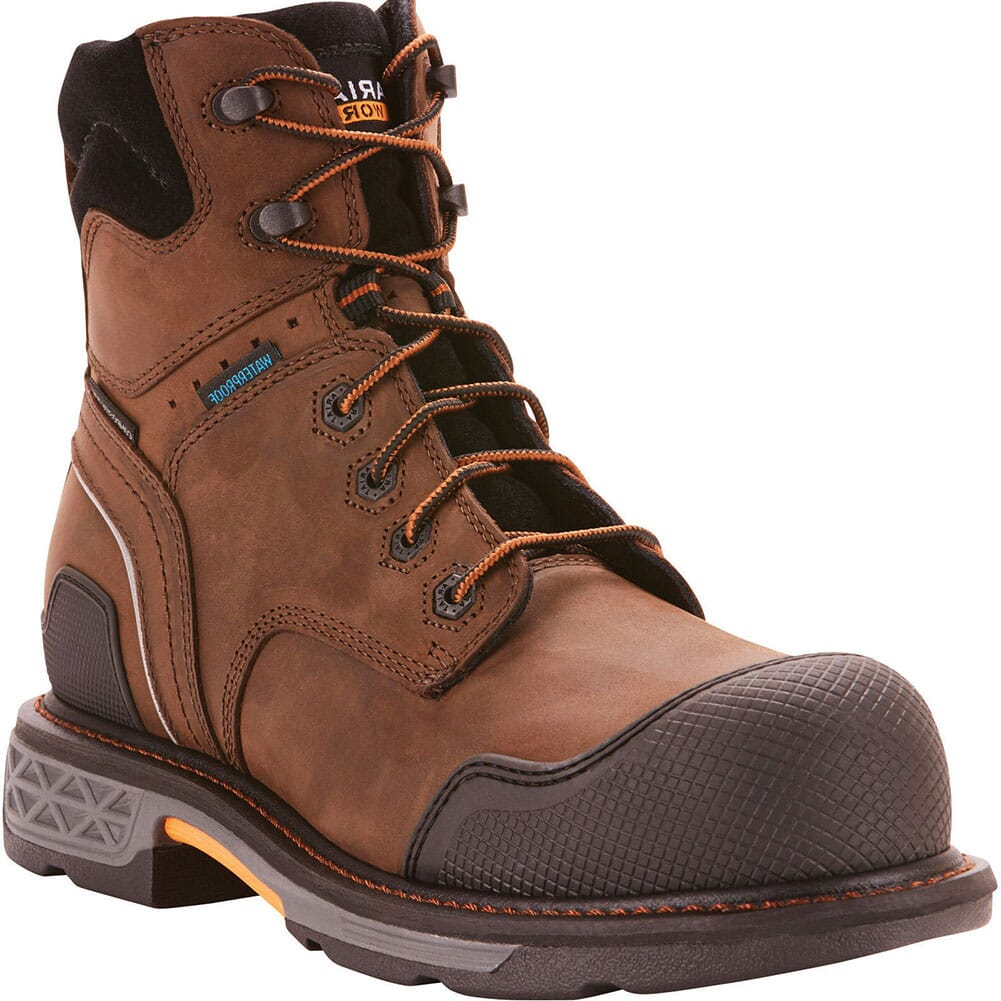 Image for Ariat Men's OverDrive XTR WP Safety Boots - Oily Distressed Brown from bootbay