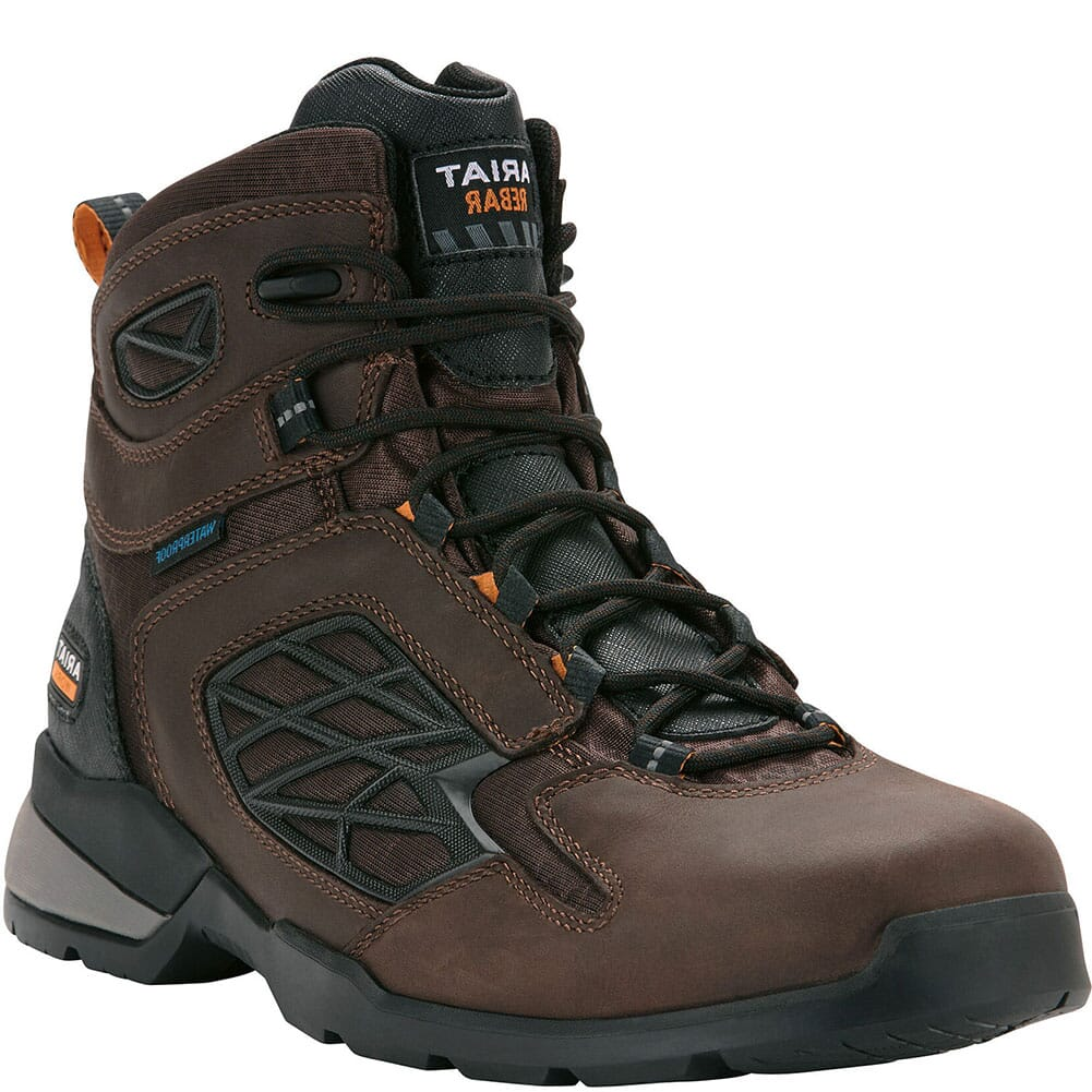 Image for Ariat Men's Rebar Flex WP Work Boots - Dark Brown from bootbay
