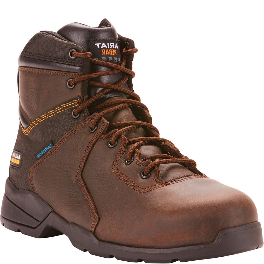 Image for Ariat Men's Rebar Flex Protect WP Safety Boots - Dark Brown from bootbay
