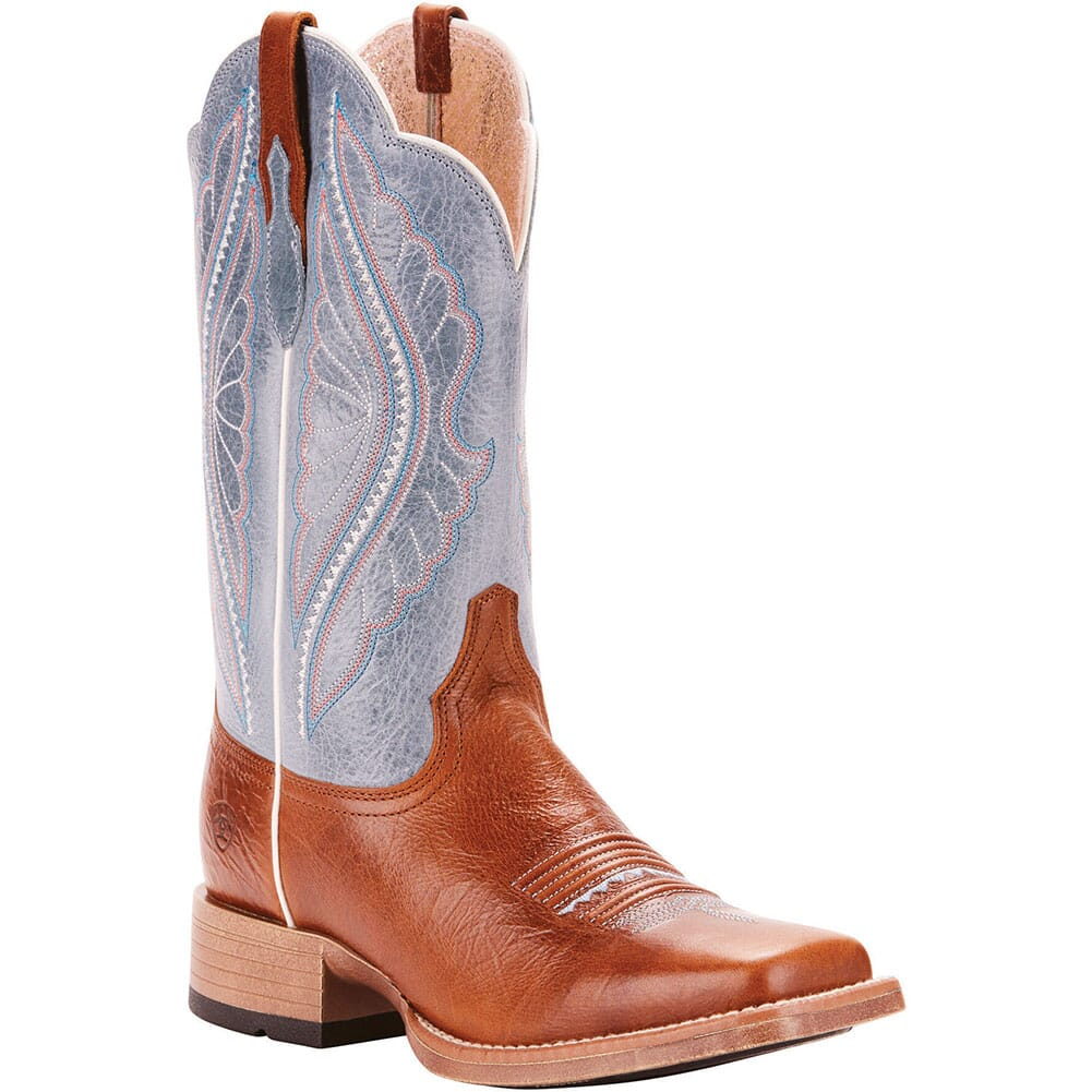 Image for Ariat Women's Primetime Tack Western Boots - Gingersnap/Baby Blue Eyes from elliottsboots