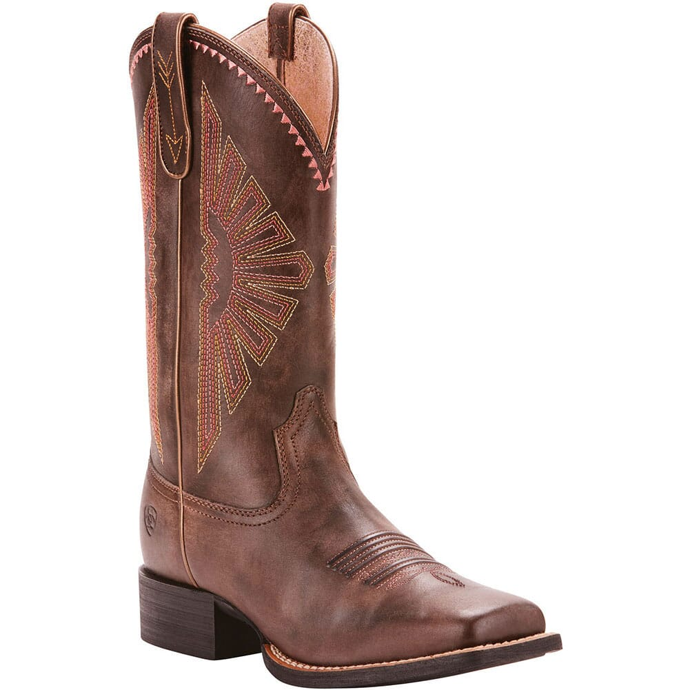 Image for Ariat Women's Round Up Rio Western Boots - Distressed Brown from elliottsboots